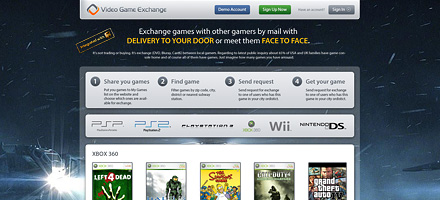 Шаблоны сайта Video Game Exchange