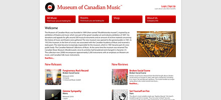 Шаблоны сайта Museum of Canadian Music